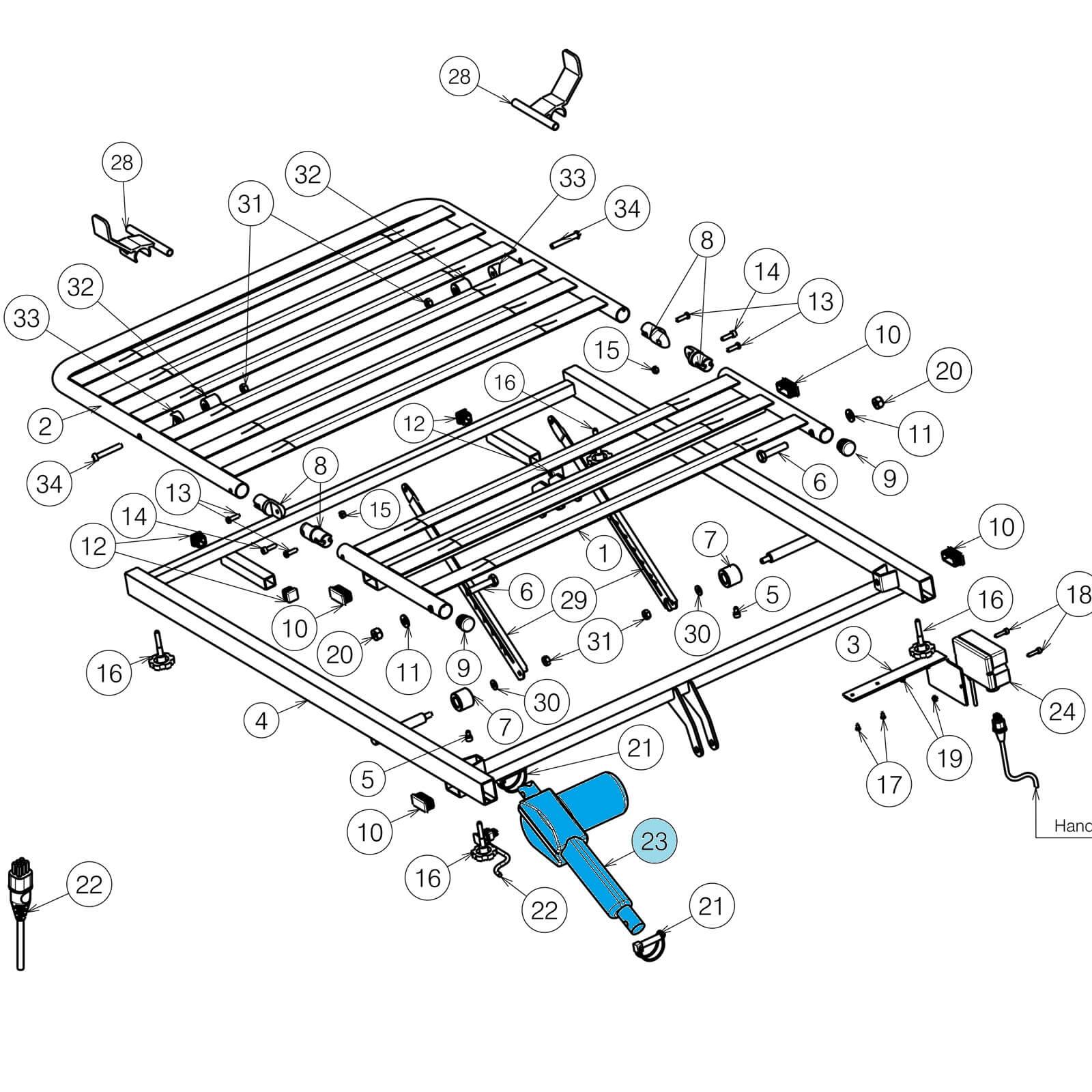 Vermeiren Luna Knee Break Motor/Actuator on
